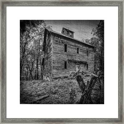 Greer Mill Black And White Framed Print by Paul Freidlund