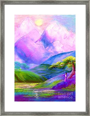 Greeting The Dawn Framed Print by Jane Small