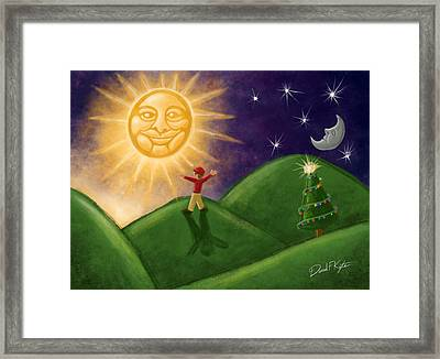 Greeting The New Sun Framed Print by David Kyte