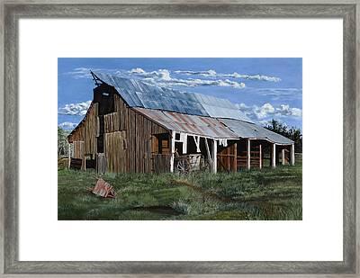 Greive's Barn Framed Print by Timithy L Gordon