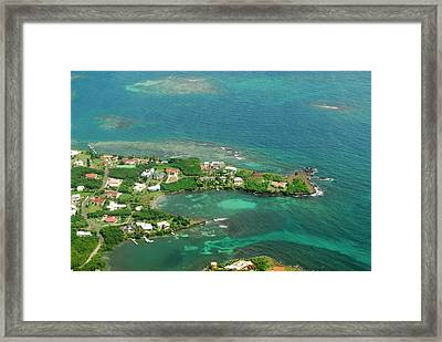 Grenada, Aerial View Of City Of St Framed Print by Anthony Asael
