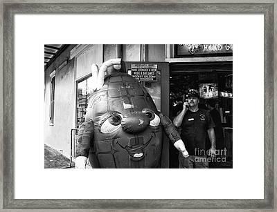 Grenade On Bourbon Street Mono Framed Print by John Rizzuto