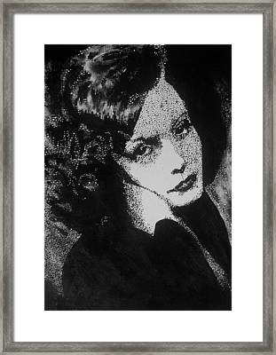 Greta Garbo Framed Print by Cherise Foster