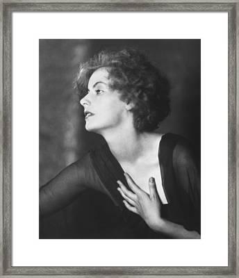 Greta Garbo Portrait Framed Print by Arnold Genthe