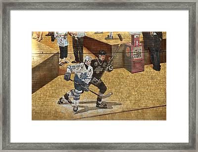 Gretzky And Gilmour 2 Framed Print by Andrew Fare