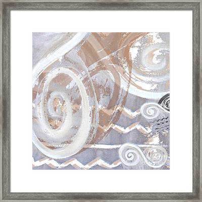 Grey Abstraction 2 Framed Print by Eva-Maria Becker