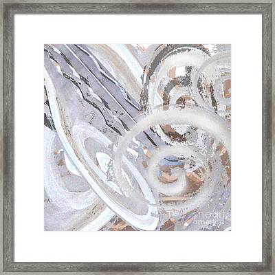 Grey Abstraction 3 Framed Print by Eva-Maria Becker