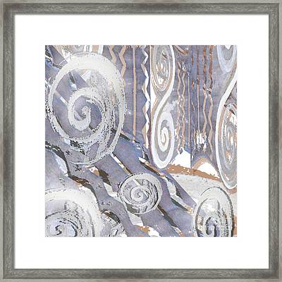 Grey Abstraction 4 Framed Print by Eva-Maria Becker
