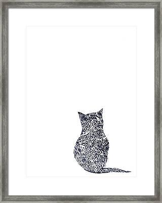 Grey Cat Framed Print by Sharon Neudeck