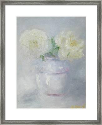 Grey Color Study Framed Print by Barbara Anna Knauf