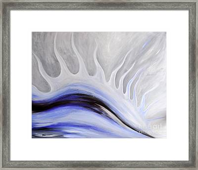 Grey January Framed Print by Eva-Maria Becker