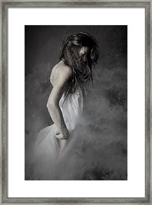 Grey Framed Print by Olga Mest