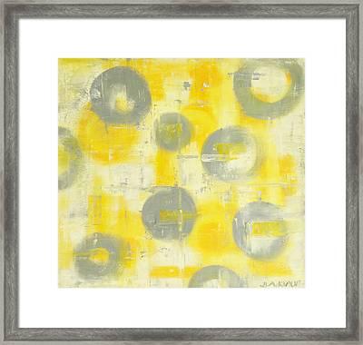 Grey Spheres Framed Print by Barbara Anna Knauf
