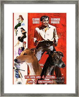 Greyhound Art - The King And Four Queens Movie Poster Framed Print by Sandra Sij