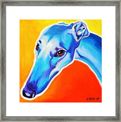 Greyhound - Lizzie Framed Print by Alicia VanNoy Call