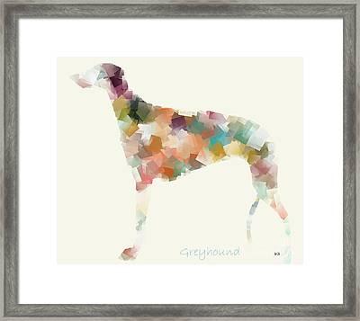 Greyhound Modern Framed Print by Bri B