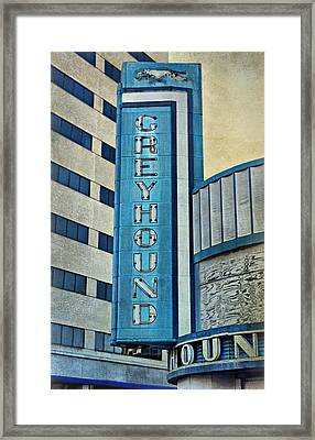 Greyhound Sign Framed Print by Sandy Keeton