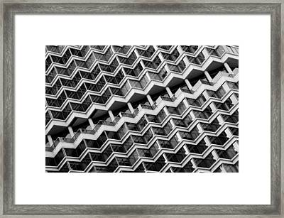 Grid Lines Framed Print by Louis Dallara