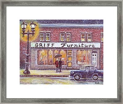 Griff Valentines' Birthday Framed Print by Rita Brown