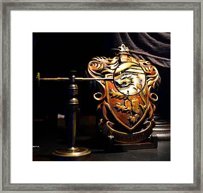 Griffindor Magnified Framed Print by David Lee Thompson