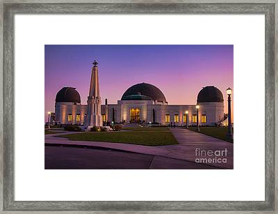 Griffith Observatory Framed Print by Eddie Yerkish