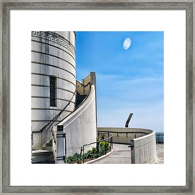 Griffith Stairs Framed Print by Camille Lopez