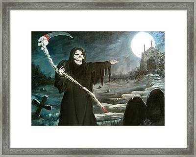 Grim Creeper Framed Print by Kevin F Heuman