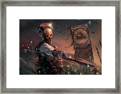 Grim Guardian Framed Print by Ryan Barger