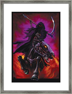 Grim Rider Framed Print by Garry Walton
