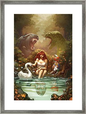 Grimm Fairy Tales Pinocchio And Belinda Framed Print by Zenescope Entertainment
