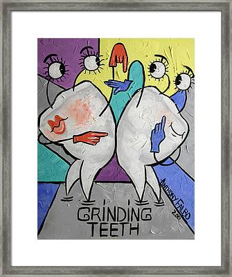 Grinding Teeth Framed Print by Anthony Falbo