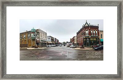 Grinnell Iowa - Downtown - 05 Framed Print by Gregory Dyer