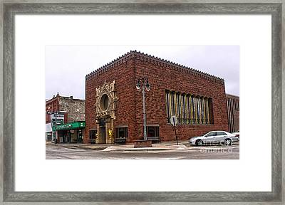 Grinnell Iowa - Louis Sullivan - Jewel Box Bank - 01 Framed Print by Gregory Dyer