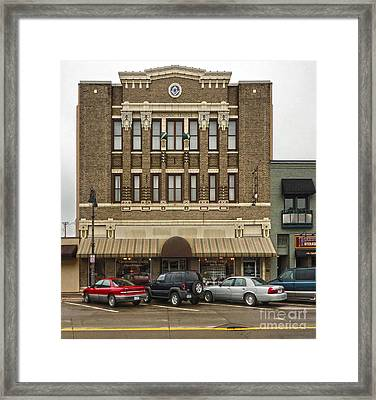 Grinnell Iowa - Masonic Temple -01 Framed Print by Gregory Dyer