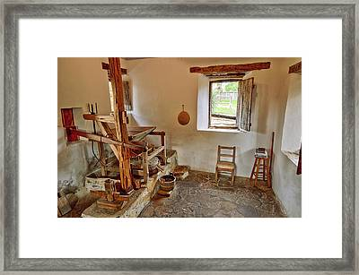 Grist Mill At Mission San Jose - San Antonio Texas Framed Print by Silvio Ligutti