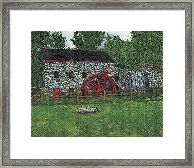 Grist Mill At Wayside Inn Framed Print by Cliff Wilson