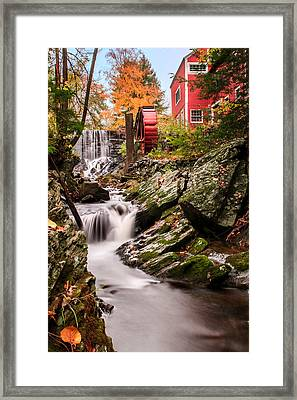 Grist Mill-bridgewater Connecticut Framed Print by Thomas Schoeller