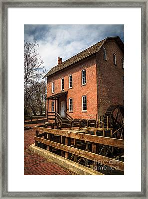 Grist Mill In Hobart Indiana Framed Print by Paul Velgos