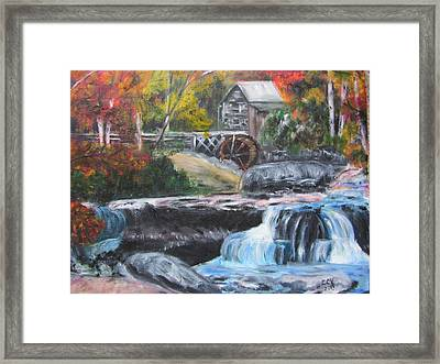 Grist Mill In West Virginia Framed Print by Lucille  Valentino