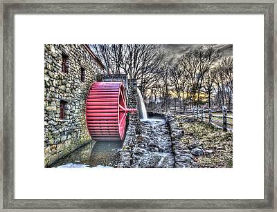 Grist Mill Sudbury Framed Print by Adam Green