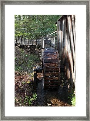Grist Mill Waterwheel Framed Print by Jim West