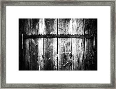 Grit Determination And Hard Work Bw Carpenter Framed Print by Parker Cunningham