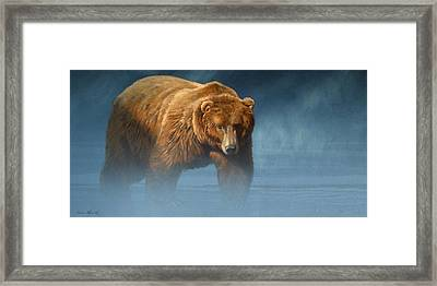 Grizzly Encounter Framed Print by Aaron Blaise