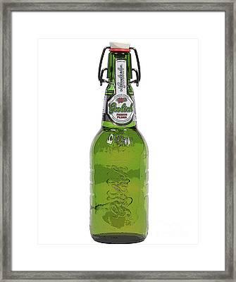 Grolsch Beer Framed Print by Patricia Hofmeester