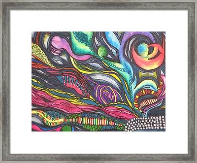 Groovy Series Titled Thoughts Framed Print by Chrisann Ellis