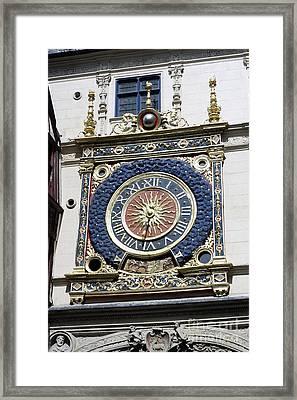 Gros Horloge Astronomical Clock Framed Print by Alex Bartel