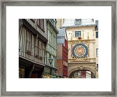 Gros Horloge, Rouen, Normandy, France Framed Print by Alex Bartel