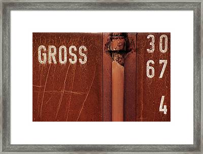 Gross Framed Print by Dragan Jovancevic