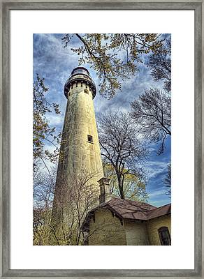 Grosse Point Lighthouse Color Framed Print by Scott Norris