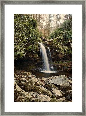 Grotto Falls  Framed Print by Heather Applegate